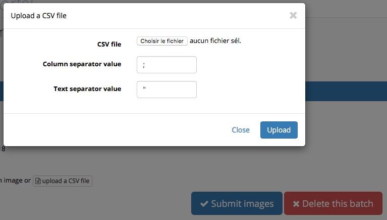 Charger CSV ENG